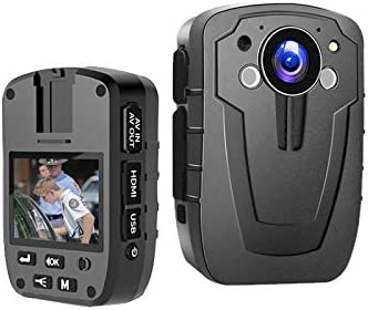1296P HD Police Body Camera 2 Inch Display Night Vision Infrared Laser Positioning IP67 3000mAh product image