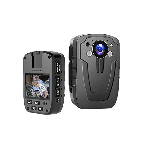 CAMMHD Cámara de policía HD 1296P, visión nocturna por infrarrojos, 36 millones de píxeles, posicionamiento láser, memoria integrada de 32 GB, cámara pequeña portátil (con batería de 3000 mAh)