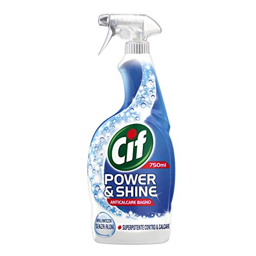 Cif Power & Shine Anticalcare Bagno, Brillantezza senza Aloni, 750 ml