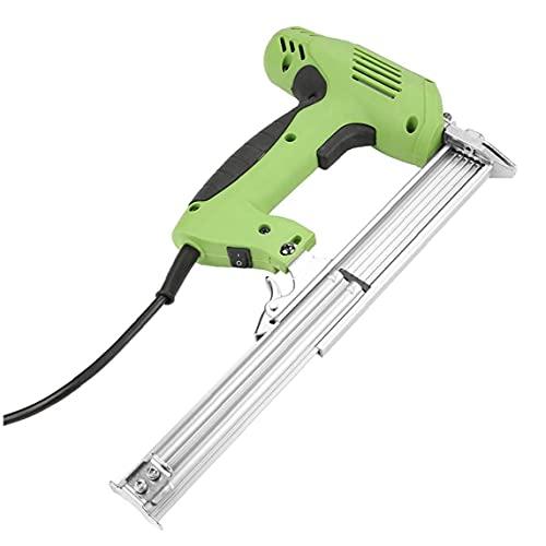 Sanfiyya Clavadora Grapadora eléctrica Grapadora de la Mano de clavado de Grapas Herramienta F30 para Trabajar la Madera de Muebles de Cuero Plantas