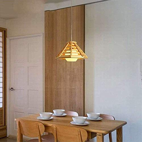 Yanqing Ledlamp, eenvoudig te installeren, voor de tuin, creatief, restaurant, pannen en hout, tatami, voor slaapkamer, bar, terras, lamp van hout, 1 x E27 (35 x 23 cm) uitstekend leven