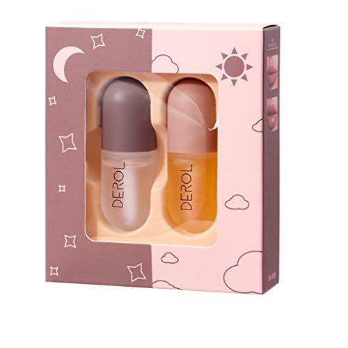 Volumizer à lèvres Serum, Fulltime 2pc Synthèse hyaluronique - complexe de sérum hydratant pour les lèvres saines et charnues