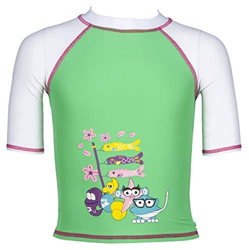 ARENA Mädchen Sonnenschutz Shirt AWT Uv, Golf Green-White, 92