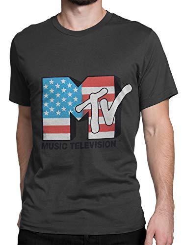 MTV Herren T-Shirt Grau Large