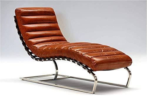 Chaise Vintage en cuir en cuir véritable Injoy Chaise longue design Recamiere pour fauteuil chaise longue fauteuil en cuir NEUF 536