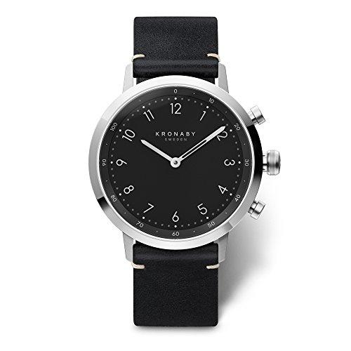 KRONABY SEKEL Connected Uhren Herren A1000-3126 eine traditionelle Uhr mit Smartwatch Funktionalitäten 41 mm Gehäusedurchmesser Saphirglas 100 Meter wasserdicht