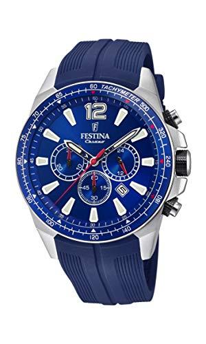 Festina Herren Chronograph Quarz Smart Watch Armbanduhr mit PU Armband F20376/1