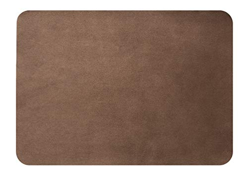 MastaPlasta Self-Adhesive Patch for Leather and Vinyl Repair, XL Suede, Brown - 8 x 11 Inch