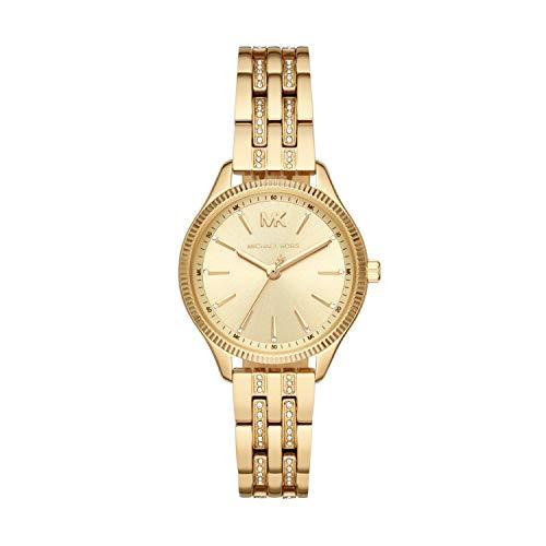 Michael Kors Damen Analog Quarz Uhr mit Edelstahl Armband MK6739