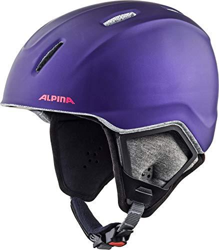 ALPINA CARAT XT Skihelm, Kinder, royal-purple matt, 51-55