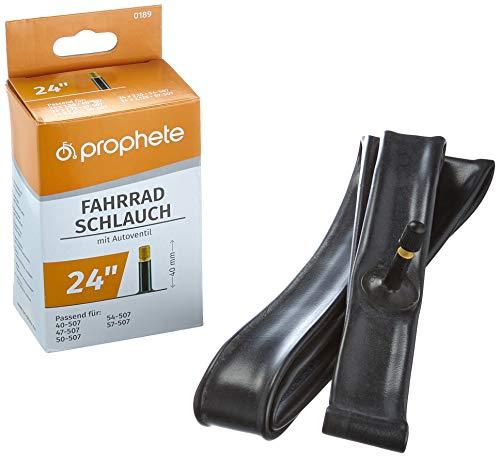 Prophete 24 x 1,75-24 x 2,125 (47/57-507) Fahrradschlauch, schwarz, L