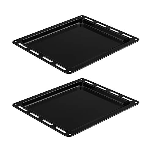 Empava Tray for 24 Inch Gas Electric Single Wall Oven in Stainless Steel 2-Pack, Black