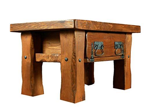 Couchtisch, Holztisch, Rustikal Unikat, Massivholz, Vintage, Tisch Höhe: 45 cm Tiefe: 55 cm Briete : 80 cm