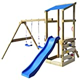 vidaXL Parque Infantil con Tobogán Columpios Madera 290x260x235...