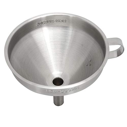 Embudo, embudo de líquido desmontable engrosado de acero inoxidable para la mayoría de las bocas de las botellas para la transferencia de ingredientes líquidos secos(Embudo 304: 13cm (sin logo))