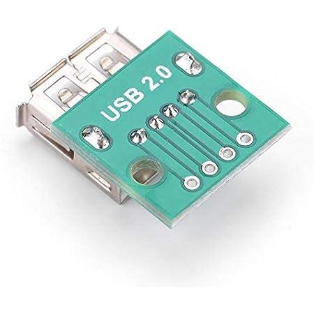 【10個入り】USBブレイクアウトボード USBタイプAメスソケット ブレイクアウトボード USB DIPアダプタ 2.54mmピッチアダプタコネクタ タイプA メスソケット ブレイクアウトボード 4Pアダプタコネクタ