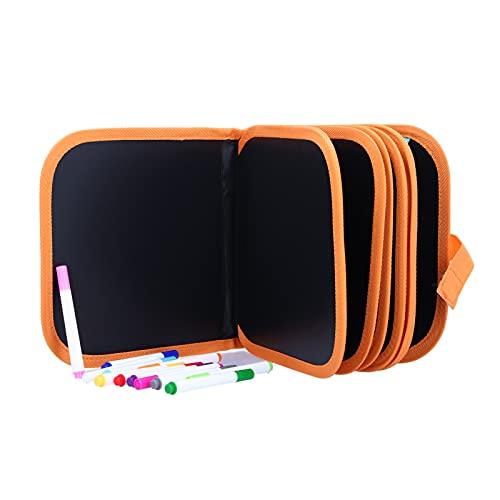Almohadilla de dibujo borrable, reutilizable almohadilla de dibujo portátil con 12 bolígrafos de colores para niños pequeños niños niñas regalo de cumpleaños(#1)