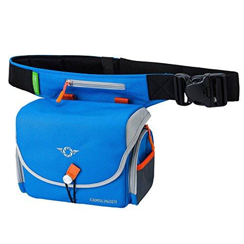 COSYSPEED Camslinger Outdoor Kameratasche mit Hüftgürtel für Systemkameras und kleine DSLR-Kameras blau
