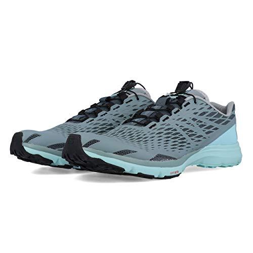 Salomon Women's XA Amphib Athletic Water Shoes, Stormy Weather/Lead/Canal Blue, 8.5