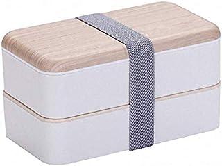 SYGF Box Bambú Bento Box con Compartimientos HerméTicos Ycubiertos SóLidos | Apto para Microondas Y Lavavajillas | Durader...