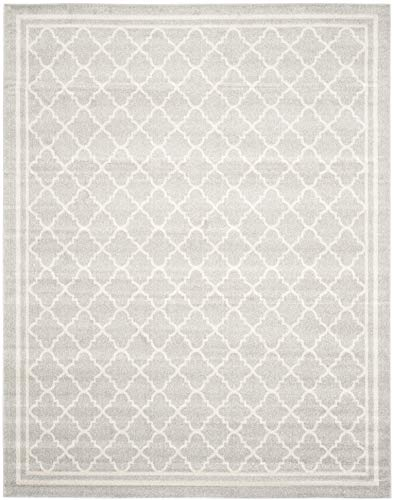 Safavieh Amherst Collection AMT422B Moroccan Trellis Area Rug, 8' x 10', Light Grey/Beige