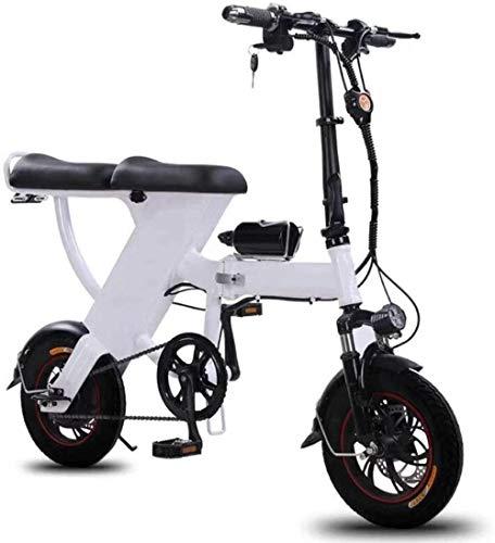 Bicicleta Plegable eléctrica, for Adulto Mini eléctrica Plegable Bici del Coche Lhtweht...