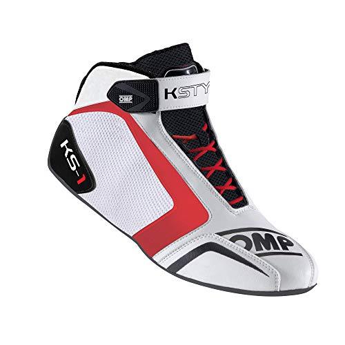 OMP OMPIC/81512044 Ks-1 Schuhe My2016 Weiß/Schwarz/Rot Größe 44