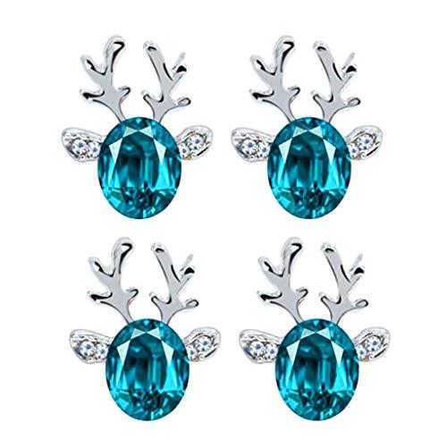 Fenverk 1 Paar Gold Mode Damen Ohrringe Weihnachten Elch Ohrringe Elegant Pearl Ohrringe,Einfach Stilvoll Weihnachten Elchgeweihe mit Weiß Perle Ohrringen Frauen Schmuck Zubehör Ohrhänger