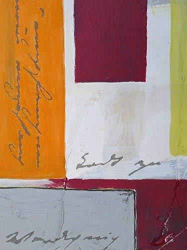 """Gemälde 13x18x1,8cm """"Schöne Worte 5+6"""", Kunstwerke zum Aufhängen, Acrylmalerei, Collage auf Leinwand mit Holzkeilrahmen - Wandbild zur Dekoration, Geschenk, Mitbringsel Home Deko"""