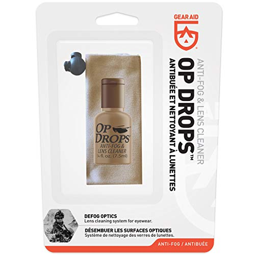 GEAR AID Op Drops Anti-Fog and Lens Cleaner for Eyewear and Optics, 0.25 fl oz (44053)