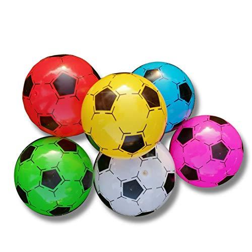 STUWU 4X Kunststoffball 20cm inkl. Ballnadel Fussball Wasserball Gymnastikball versch. Farben