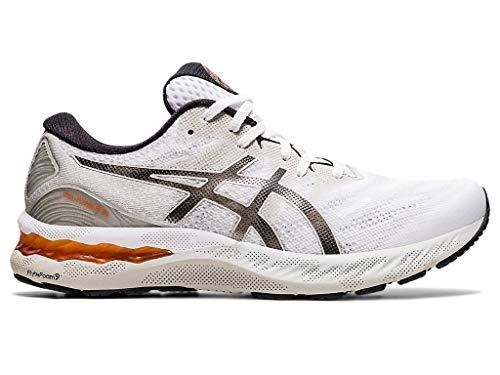ASICS Zapatillas de running Gel-Nimbus 23 para hombre, blanco (Blanco/Oyster Grey), 41.5 EU