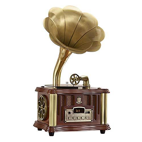 Analoge Phonographenlautsprecher, Kreative Wohnzimmerlautsprecher, Ornamente, Retro-Lautsprecher, Analoge Plattenspieler, Bluetooth-Lautsprecher,Braun