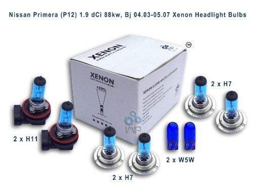 Xenón efecto bombillas coche H11para faros H7H7W5W, (8unidades)