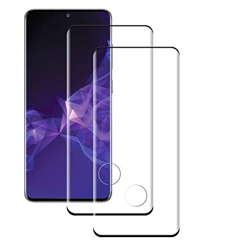 PUUDUU [2 Pack Cristal Templado para Samsung Galaxy S20 Ultra, Dureza 9H, Anti-Rasguños, Sin Burbujas, Vidrio Templado Protector de Pantalla para Samsung Galaxy S20 Ultra