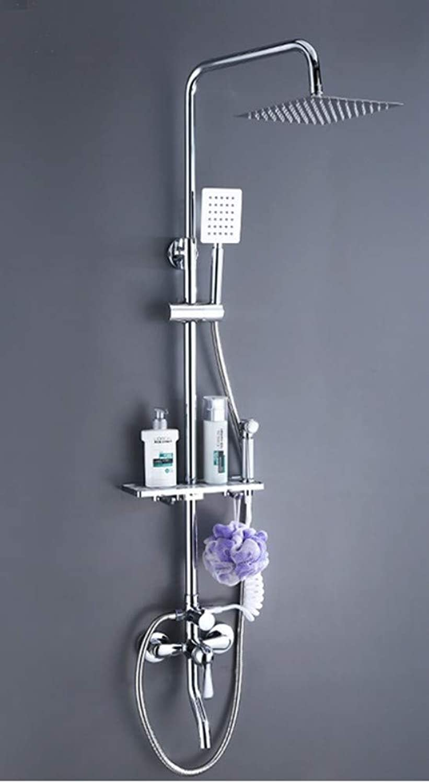 Bionmceu Duschset Home Luxury Modern Shower and Shower System Handbrause Set Hhenverstellbar Komplettes Zubehr