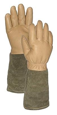 Deluxe Rose Pro's Leather Gauntlet Gardening Gloves