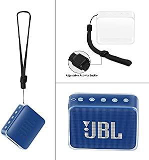 LovelystMXaar Funda Protectora de TPU para JBL GO 2, Funda Protectora de TPU con Correa de Mano para JBL GO 2 Altavoz Bluetooth Bolsa de protección de Viaje portátil