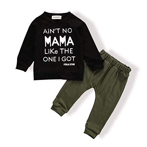 Baby Boy Clothes Funny Letter Printed Tops Leggings Pants Outfits Set for...