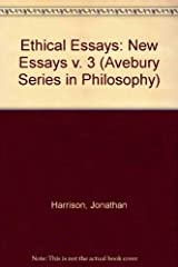 Ethical Essays: New Essays (Avebury Series in Philosophy) Hardcover