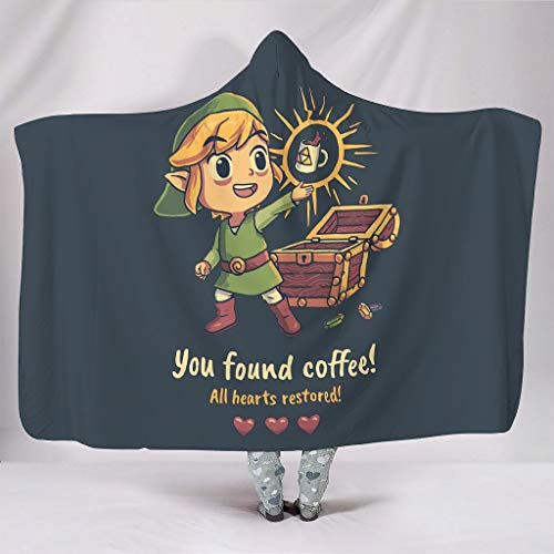 Caixiabeauty Zelda - Manta con capucha...