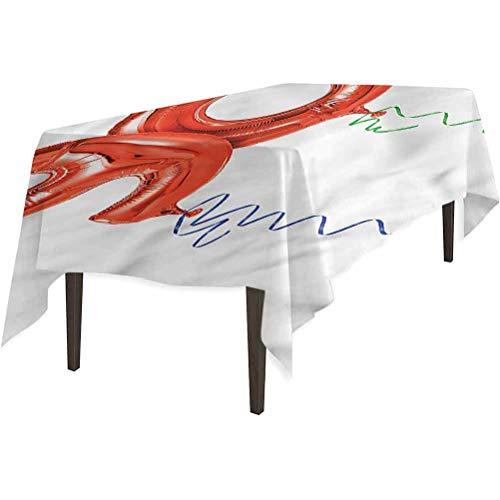 Aishare Store - Mantel de mesa a prueba de derrames, 90 cumpleaños globos voladores rizos, cubierta de mesa para cenas de Acción de Gracias, 152,4 x 304,8 cm