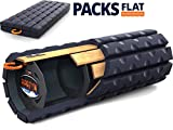 Brazyn Morph Bravo Foam Roller - Collapsible & Portable Muscle Back Massager for Myofascial Release Massage (Midnight Blue)
