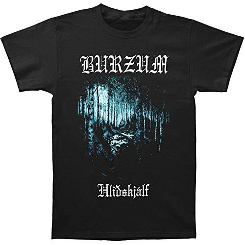 OVer Burzum Men's Hlidskjalf T-Shirt Short Sleeve T-Shirt Men's Funny Black T-Shirt