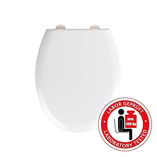 WENKO WC-Sitz Rieti aus Duroplast in Weiß, mit Absenkautomatik, belastbar bis 300 kg