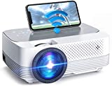 VicTsing Mini Wireless Projector, 5000LUX LED Movie Projector, Native 1280x720P Portable Home Theater Projectors, 1080P Supported, 50.000h Lamp Life, Compatible with Audio, AV, USB, HDMI, SD, PS4