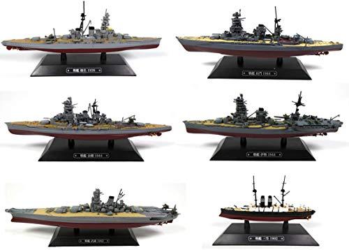 OPO 10 - Lote de 6 Buques de Guerra 1/1100: Nagato + Kongo + Musashi + Ise + Mikasa + Haruna (LT35)