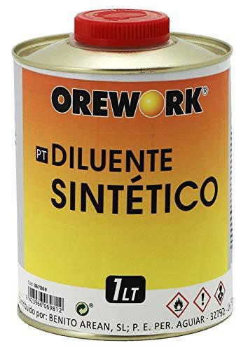 2 lts de DISOLVENTE SINTETICO 1 L OREWORK