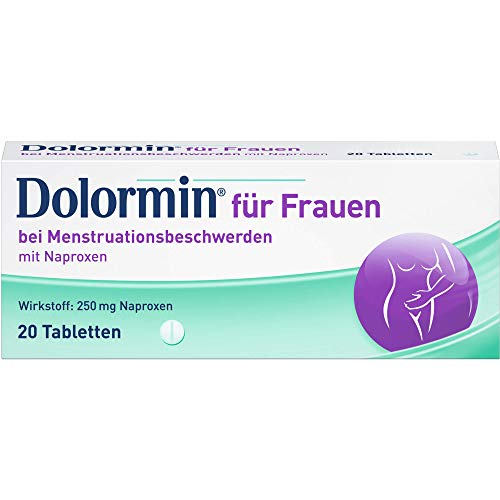Dolormin für Frauen Tabletten bei Menstruationsbeschwerden, 20 St. Tabletten
