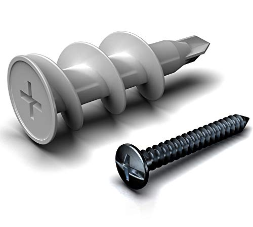 Ideal for Drywall and Masonry. - Fixing Wall Anchors Fast Ideal for Loose Wall fixtures Such as Curtain Rails 50 Discs Toilet roll Holders WETNFIX